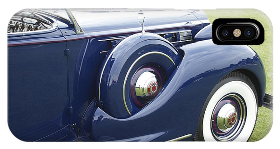 Antique IPhone X Case featuring the photograph 1938 Packard by Jack R Perry