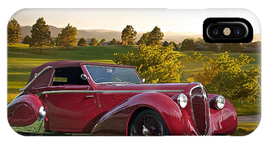 Art IPhone X Case featuring the photograph 1947 Delahaye 135m Pennock Cabriolet by Dave Koontz