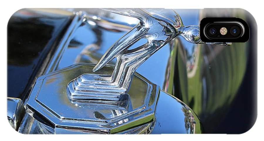 Auto IPhone X Case featuring the photograph 1948 Mg Hood Ornament by Mark Steven Burhart