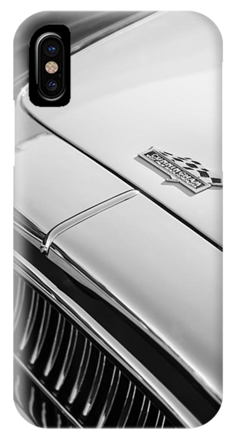 1952 Cunningham C-3 Coupe Hood Emblem IPhone X Case featuring the photograph 1952 Cunningham C-3 Coupe Hood Emblem by Jill Reger