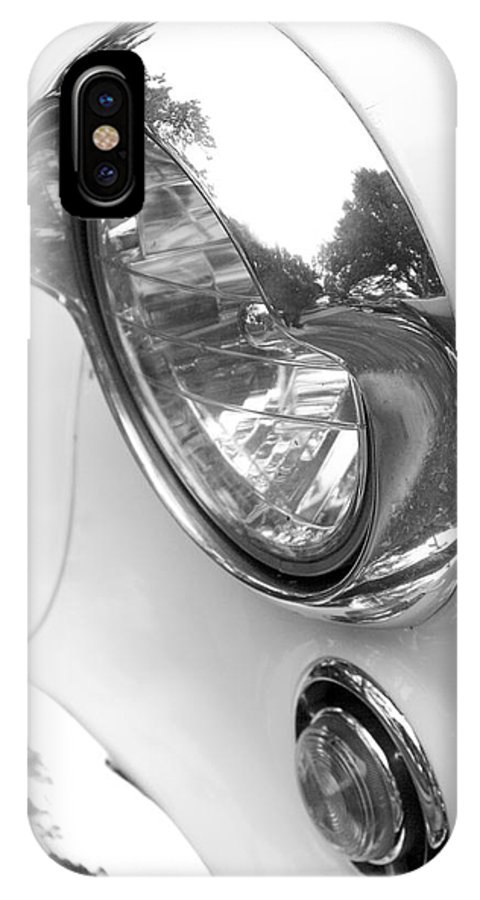 1955 Buick Special Photographs IPhone X / XS Case featuring the photograph 1955 Buick Special Headlight by Brooke Roby