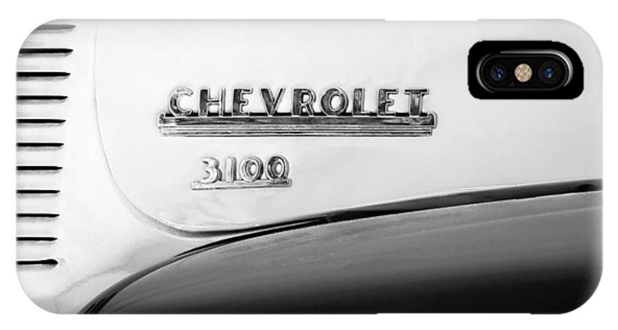 1956 Chevrolet 3100 Pickup Truck Emblem IPhone X Case featuring the photograph 1956 Chevrolet 3100 Pickup Truck Emblem by Jill Reger