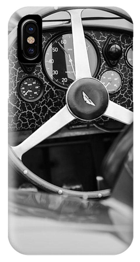 1957 Aston Martin Dbr2 Steering Wheel IPhone X Case featuring the photograph 1957 Aston Martin Dbr2 Steering Wheel by Jill Reger