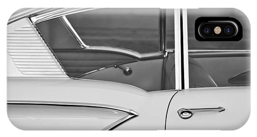1958 Chevrolet Belair IPhone X Case featuring the photograph 1958 Chevrolet Belair by Jill Reger