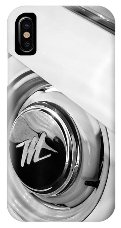 1959 Nash Metropolitan 1500 Convertible Wheel Emblem IPhone X Case featuring the photograph 1959 Nash Metropolitan 1500 Convertible Wheel Emblem by Jill Reger