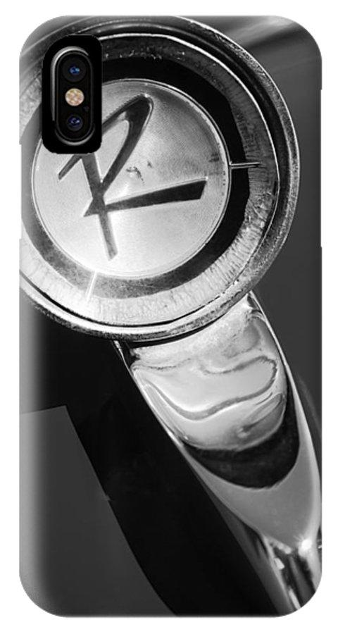1961 American Rambler Hood Ornament IPhone X Case featuring the photograph 1961 American Rambler Hood Ornament by Jill Reger