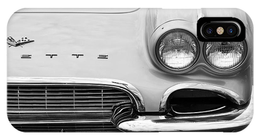 1961 Chevrolet Corvette IPhone X / XS Case featuring the photograph 1961 Vette by Dennis Hedberg