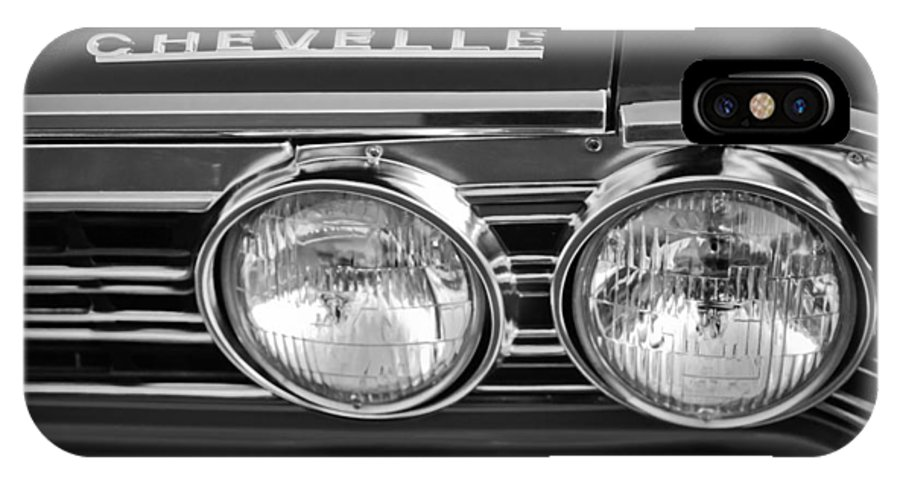 1967 Chevrolet Chevelle Super Sport Emblem IPhone X Case featuring the photograph 1967 Chevrolet Chevelle Super Sport Emblem by Jill Reger