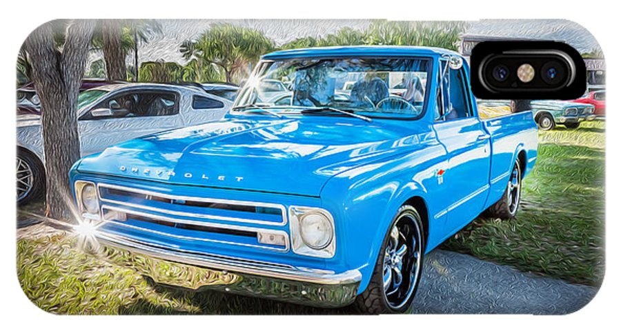 1967 Chevy Silverado Pick Up Truck Painted Iphone X Case