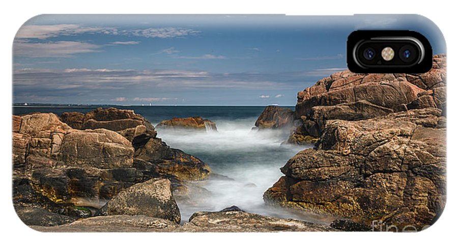 Seascape IPhone X Case featuring the photograph 45 by Rrea Brown