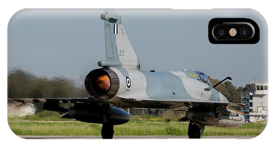Greece IPhone X Case featuring the photograph A Hellenic Air Force Mirage 2000 Egm by Timm Ziegenthaler
