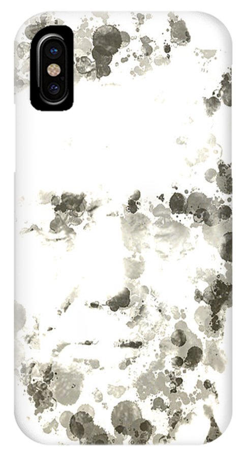 Abraham Lincoln IPhone X / XS Case featuring the digital art Abraham Lincoln Paint Drops by Brian Reaves