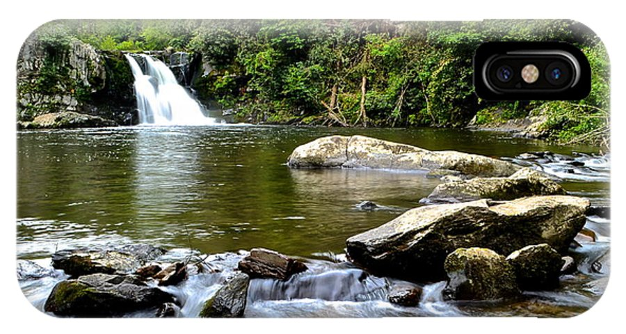Falls IPhone X Case featuring the photograph Abrams Falls by Frozen in Time Fine Art Photography