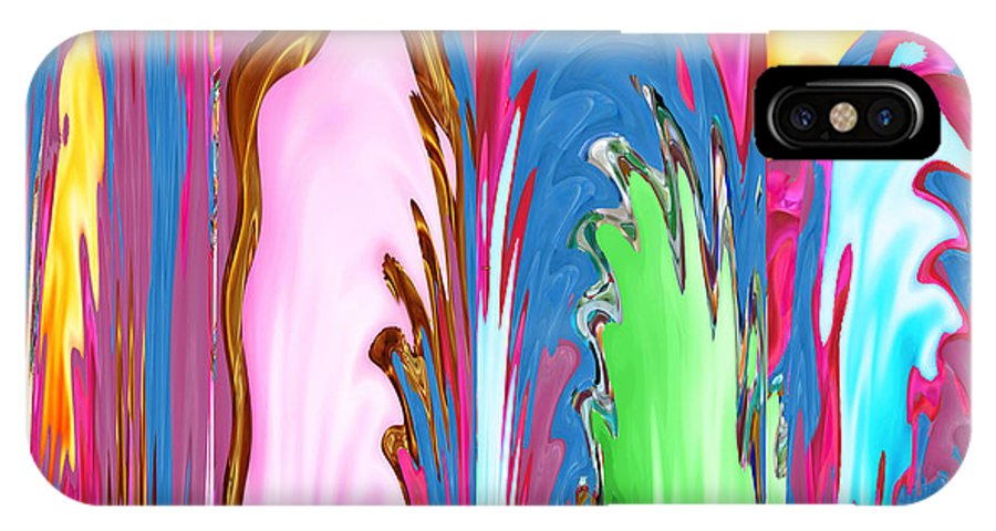 Canvas Prints IPhone X Case featuring the mixed media Abstract Emotional Stages Confusion Disbelief Grief Anger Walkaway by Navin Joshi