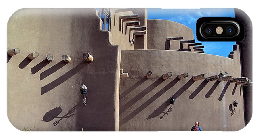Woman IPhone X / XS Case featuring the photograph Adobe Architecture In Santa Fe by Carl Purcell