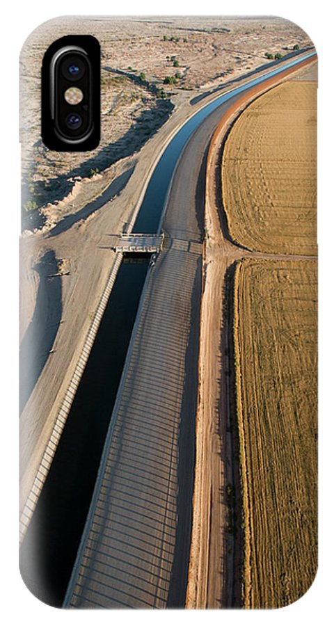 Aerial IPhone X Case featuring the photograph Aerial Border Patrol On The U.s.mexico by Peter McBride