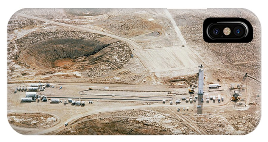 Aerial View Of The Nevada Atomic Bomb Test Site Iphone X Case For Sale By Us Department Of Energy Science Photo Library