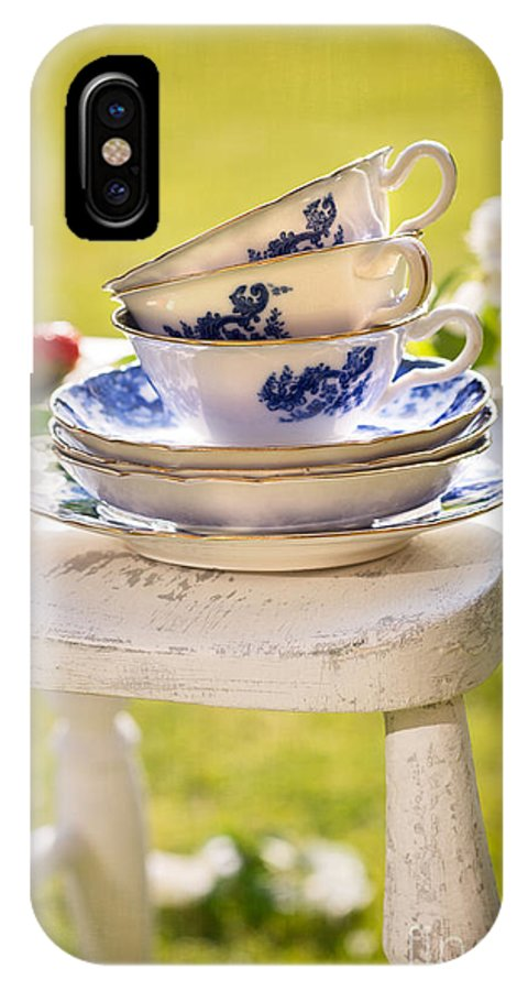 Afternoon IPhone X / XS Case featuring the photograph Afternoon Tea by Amanda Elwell