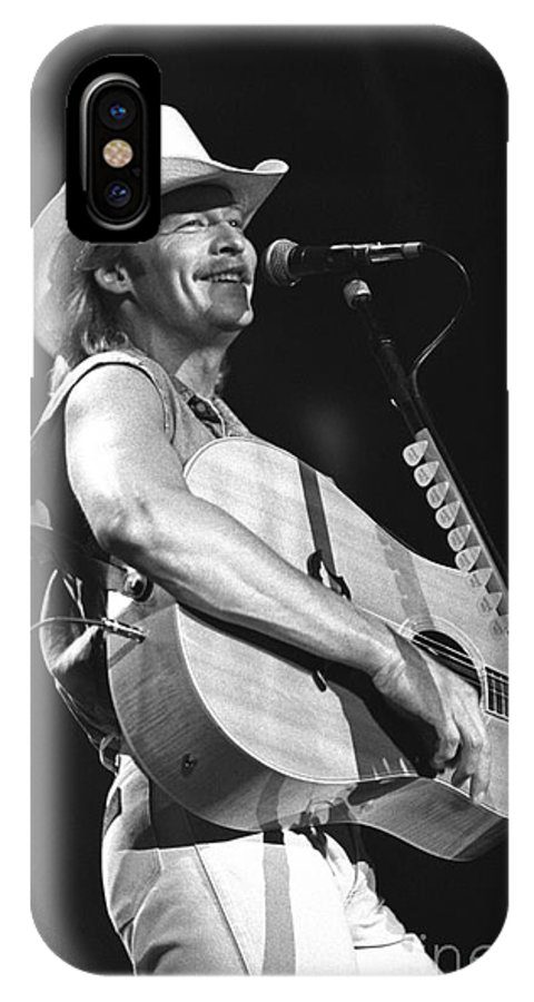 Country Music Star IPhone X Case featuring the photograph Alan Jackson by Concert Photos