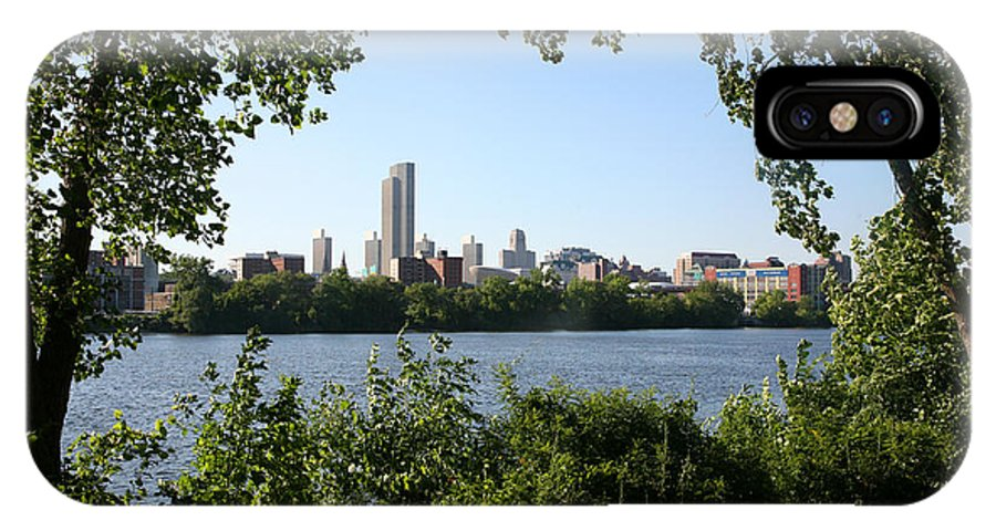 Empire State Plaza IPhone X Case featuring the photograph Albany Skyline by Bill Cobb