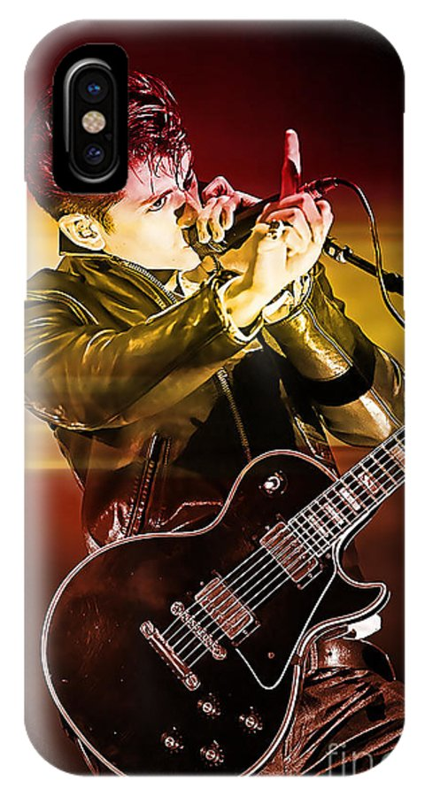 Arctic Monkeys Photographs IPhone X Case featuring the mixed media Alex Turner by Marvin Blaine