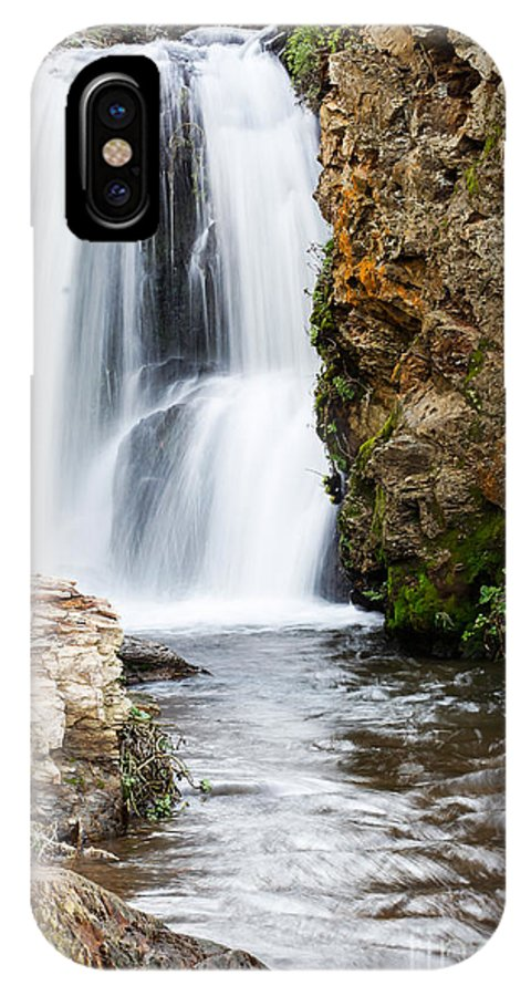 Waterfall IPhone X Case featuring the photograph Allamere Falls by Tim Tolok