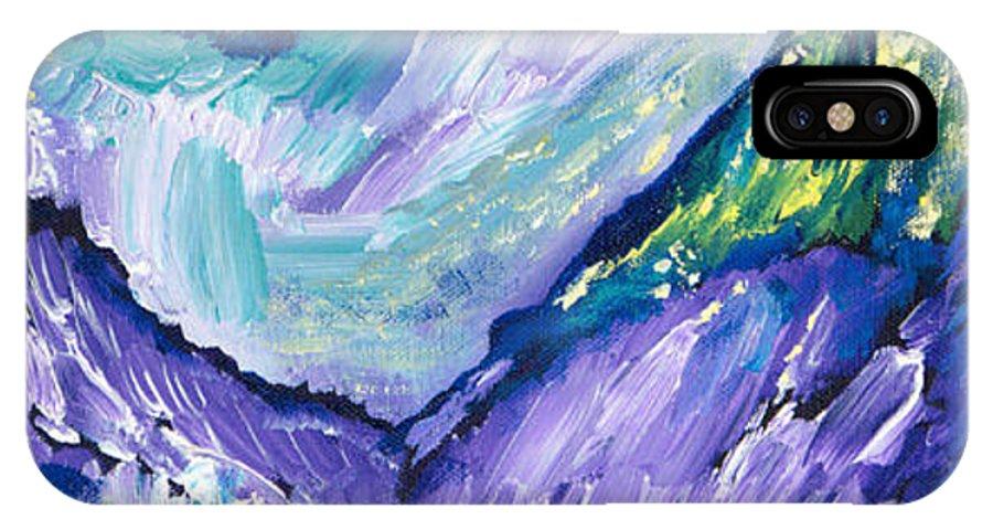 Alpine Joy IPhone X Case featuring the painting Alpine Joy by Sheryl Brown