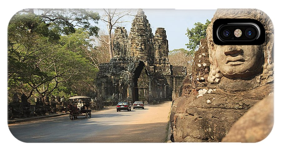 Ancient IPhone X / XS Case featuring the photograph Angkor Thom by David Davis