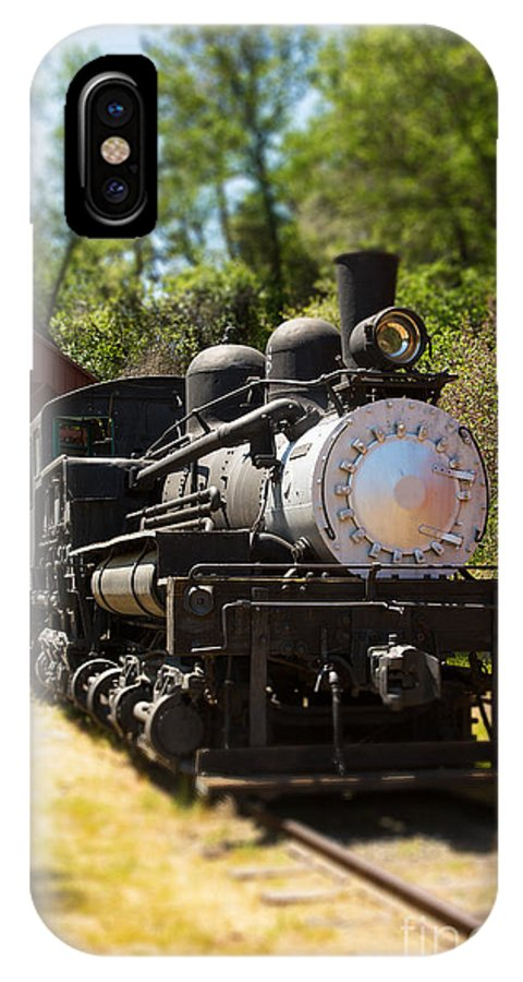 Train IPhone X Case featuring the photograph Antique Locomotive by Jane Rix