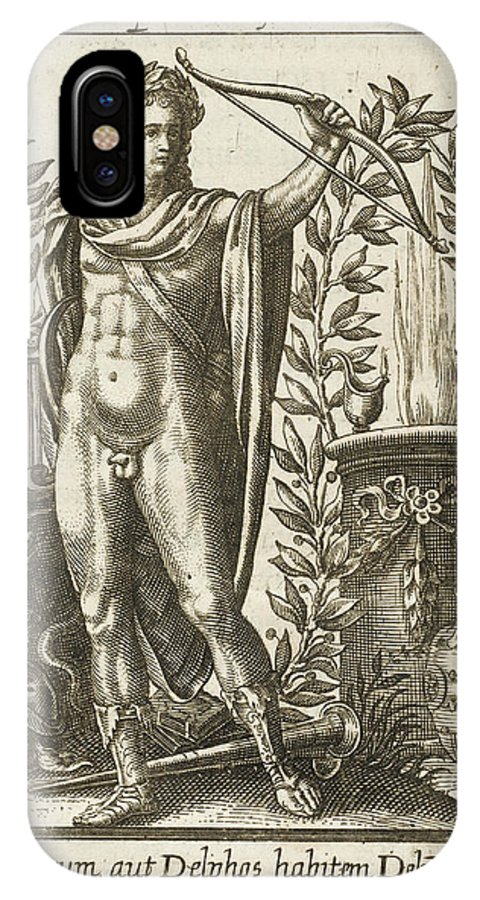 Apollo IPhone X Case featuring the drawing Apollo Pythias, The Greek God by Mary Evans Picture Library