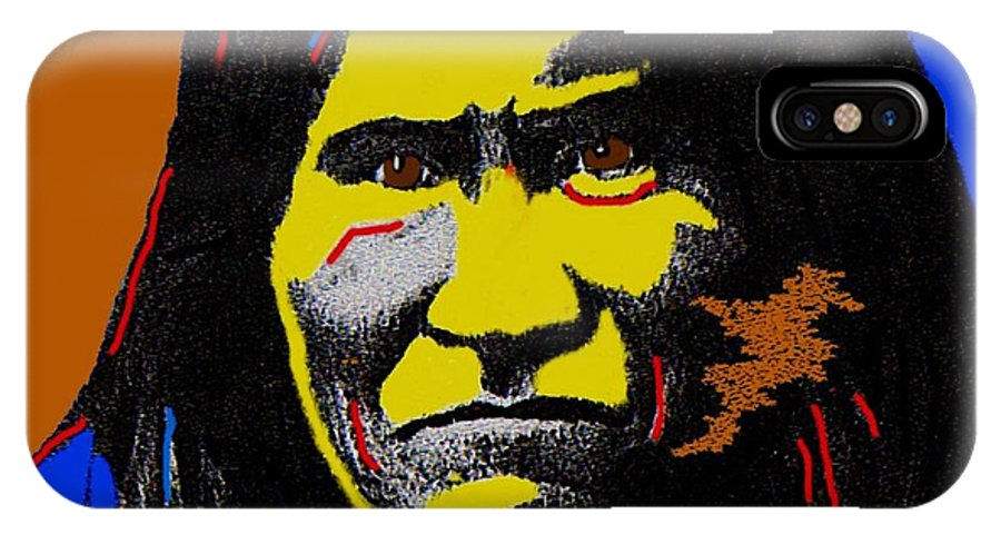 Art Homage Andy Warhol Geronimo 1887 IPhone X Case featuring the photograph Art Homage Andy Warhol Geronimo 1887-2009 by David Lee Guss
