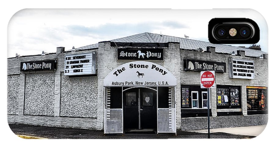 Asbury. Park's .stone. Pony.park IPhone X Case featuring the photograph Asbury Park's Stone Pony by Bill Cannon