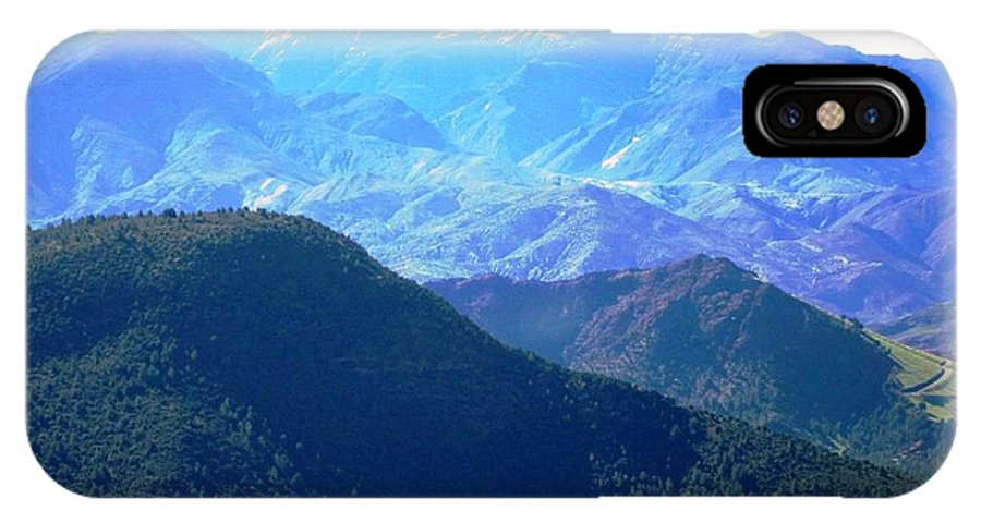 Morocco IPhone X Case featuring the photograph Atlas Mountains 13 by Teresa Ruiz