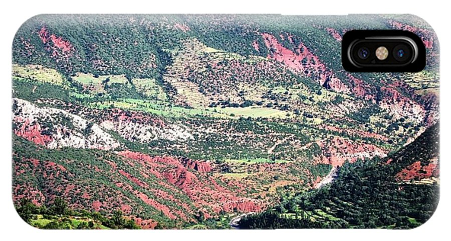 Morocco IPhone X Case featuring the photograph Atlas Mountains 6 by Teresa Ruiz