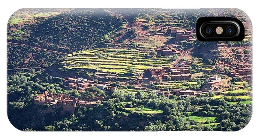 Morocco IPhone X Case featuring the photograph Atlas Mountains 8 by Teresa Ruiz