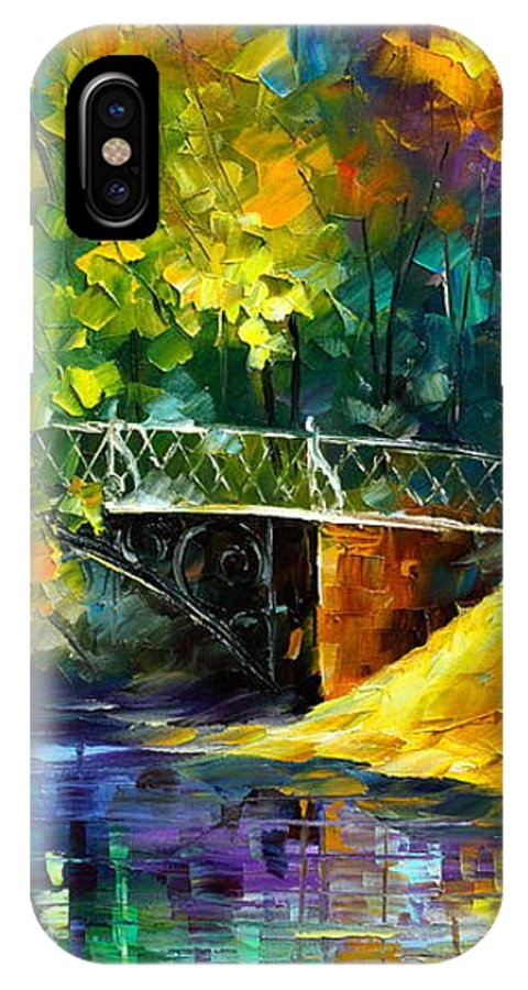 Afremov IPhone X Case featuring the painting Aura Of Autumn 3 by Leonid Afremov