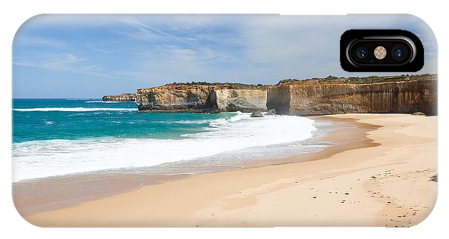 Cliff IPhone X Case featuring the photograph Australian Beach by Matteo Colombo