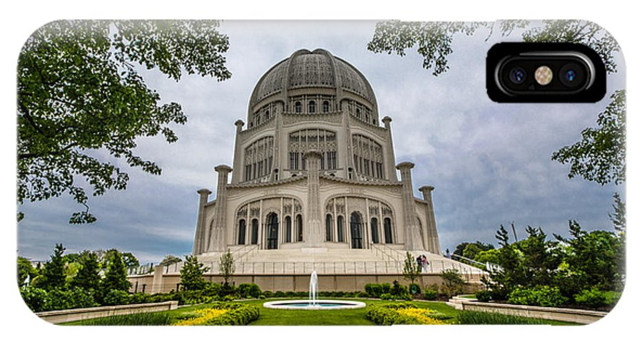 2014 IPhone X Case featuring the photograph Baha'i House Of Worship by Randy Scherkenbach