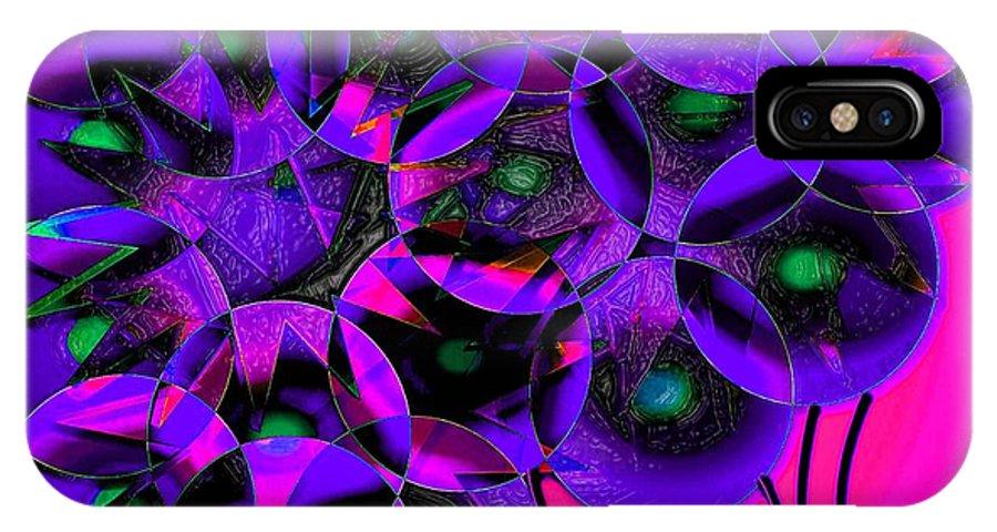 Digital IPhone X Case featuring the digital art Balloons 2 by Iris Gelbart