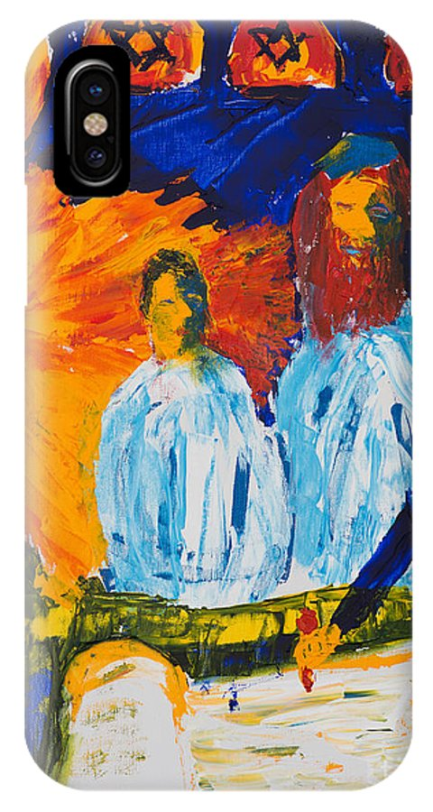 Jewish Art IPhone X Case featuring the painting Bar Mitzvah by Walt Brodis