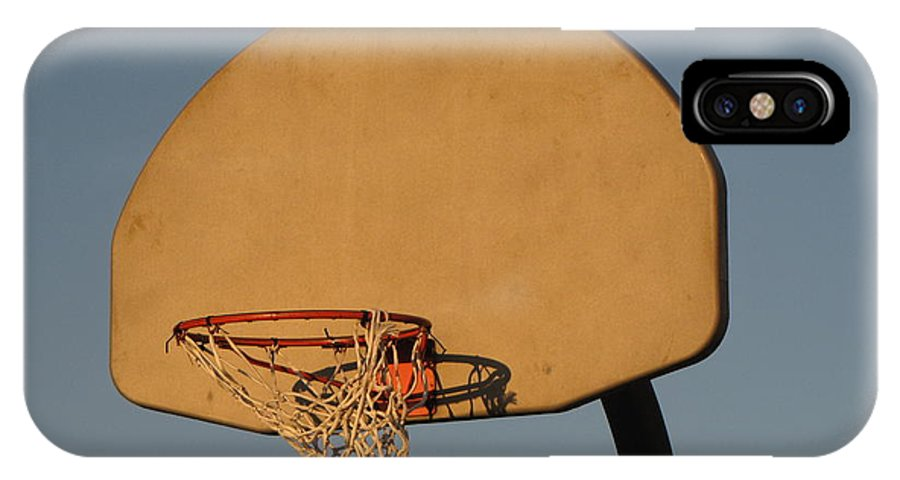 Basketball IPhone X Case featuring the photograph Basketball Goal At Sandy Point by Ben Schumin