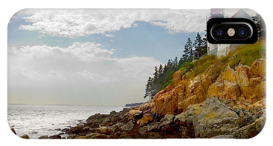 Maine Lighthouse IPhone X / XS Case featuring the photograph Bass Harbor Head Lighthouse by Mike McGlothlen