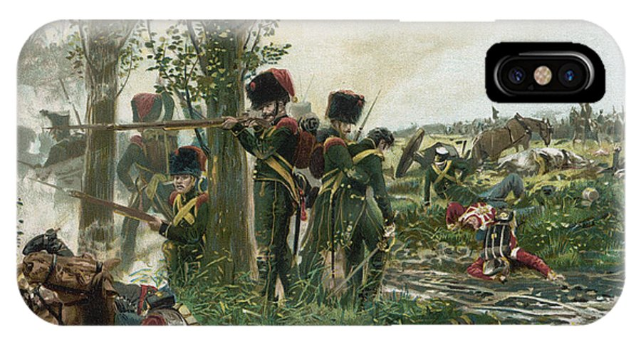 Waterloo IPhone X Case featuring the drawing Battle Of Waterloo Troops Of The Nassau by Mary Evans Picture Library