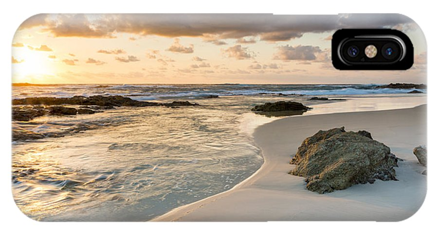 Sunrise IPhone X Case featuring the photograph Beach Sunrise by Tim Hester