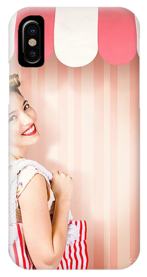 Hairdressing IPhone X Case featuring the photograph Beauty And Fashion Woman Shopping At Salon Store 1 by Jorgo Photography - Wall Art Gallery