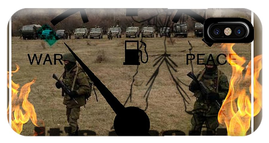 War IPhone X Case featuring the digital art Behind The Scenes by Meiers Daniel