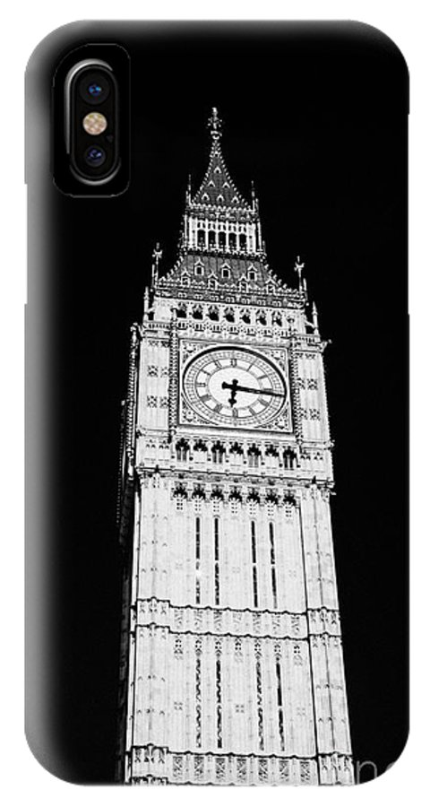 Big Ben IPhone X Case featuring the photograph big ben elizabeth clock tower on the houses of parliament London England UK by Joe Fox