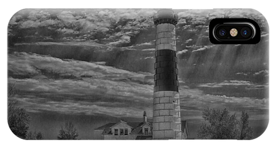Architecture IPhone X Case featuring the photograph Big Sable Point Lighthouse by Jack R Perry