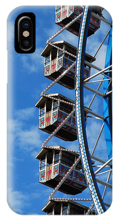 Merry-go-round IPhone X / XS Case featuring the photograph Big Wheel by Karin Stein