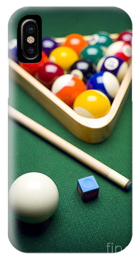 Billiards IPhone X Case featuring the photograph Billiards by Tony Cordoza